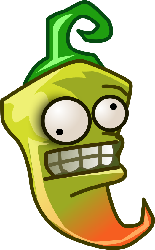 Plants vs Zombies 2 pickled-pepper(All-star) (R) by illustation16 on ... clip black and white download