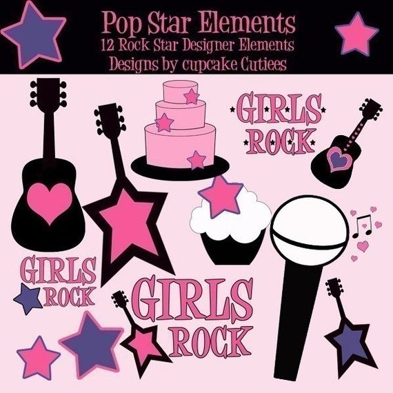 Rock star party clipart clip art freeuse library pop star/rock star birthday | Adventures in Party Planning ... clip art freeuse library