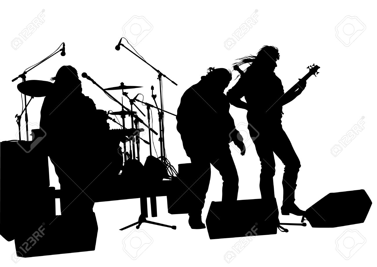 Rockband clipart svg black and white Rock band clipart 1 » Clipart Station svg black and white