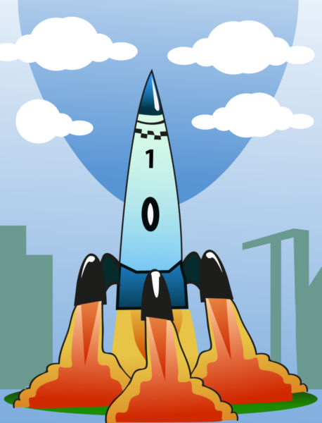 Rocket launch free clipart banner royalty free Rocket launch clipart - stock photo free banner royalty free