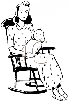 Rocking baby clipart jpg black and white library Mothers Day Clipart - Mother Rocking Her Baby   Are You My ... jpg black and white library