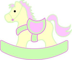 Rocking baby clipart picture royalty free library Rocking Horse Clipart Image - Rocking horse pony for a ... picture royalty free library