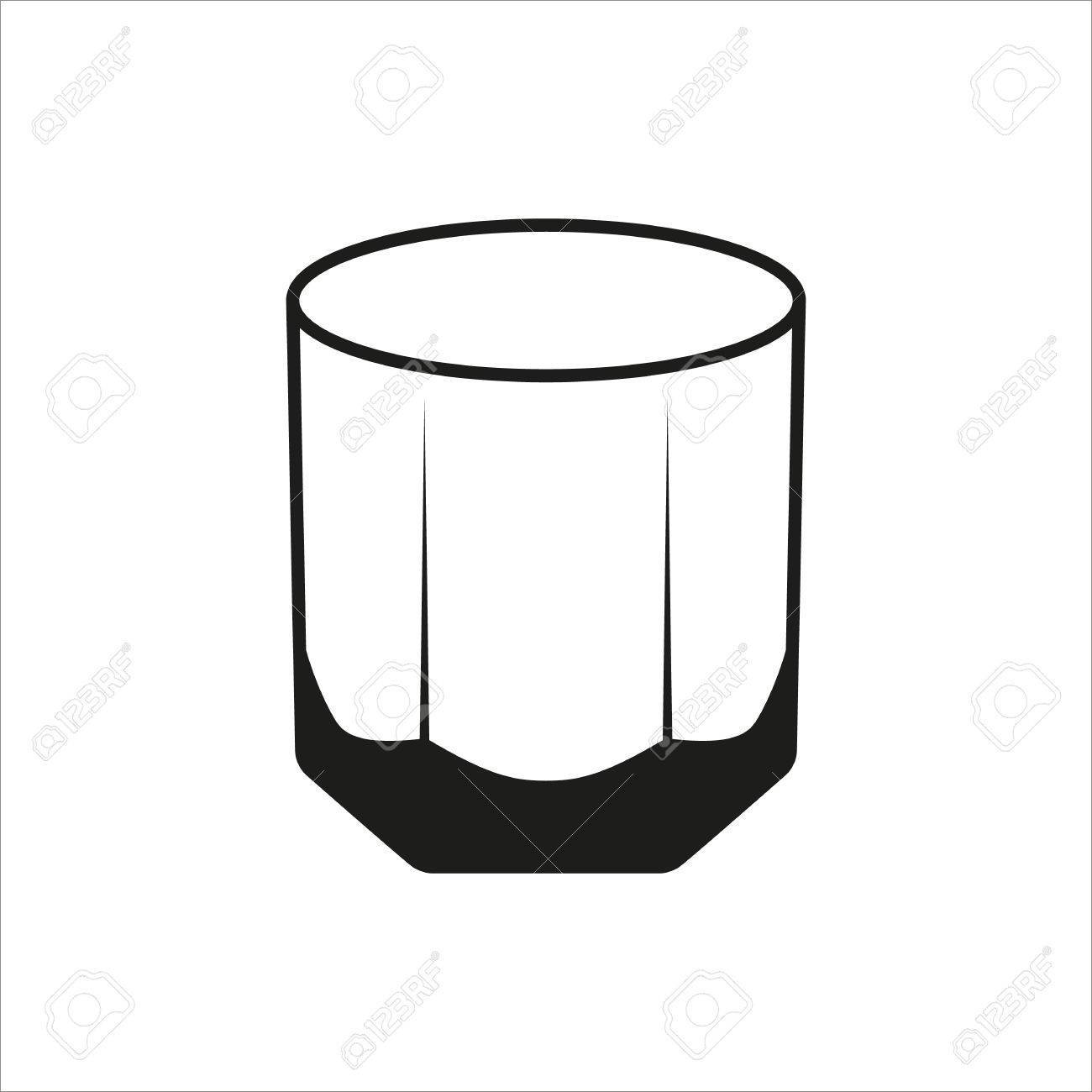 Rocks glass clipart picture free stock Rocks Glass Tumbler sign simple icon » Clipart Portal picture free stock