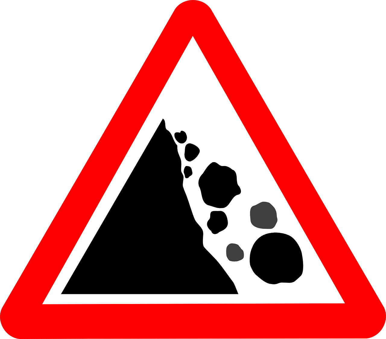 Rockslide clipart clip library Rockslide Sign Warning Sign PNG - Picpng clip library