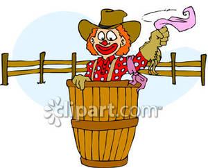 Rodeo clown clipart