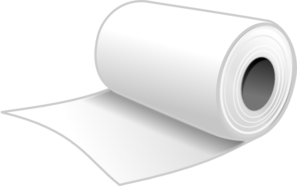 Roll of paper clipart png black and white library Paper Towels Roll Clip Art at Clker.com - vector clip art ... png black and white library