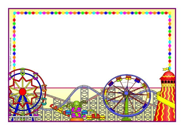 Roller coaster border clipart clip art royalty free download Fairground-Themed A4 Page Borders (SB11895) - SparkleBox ... clip art royalty free download