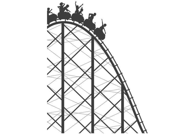 Roller Coaster PNG Transparent Images | PNG All clip art black and white download