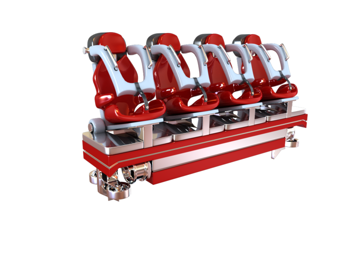 3D asset Realistic Roller Coaster Seat | CGTrader royalty free download