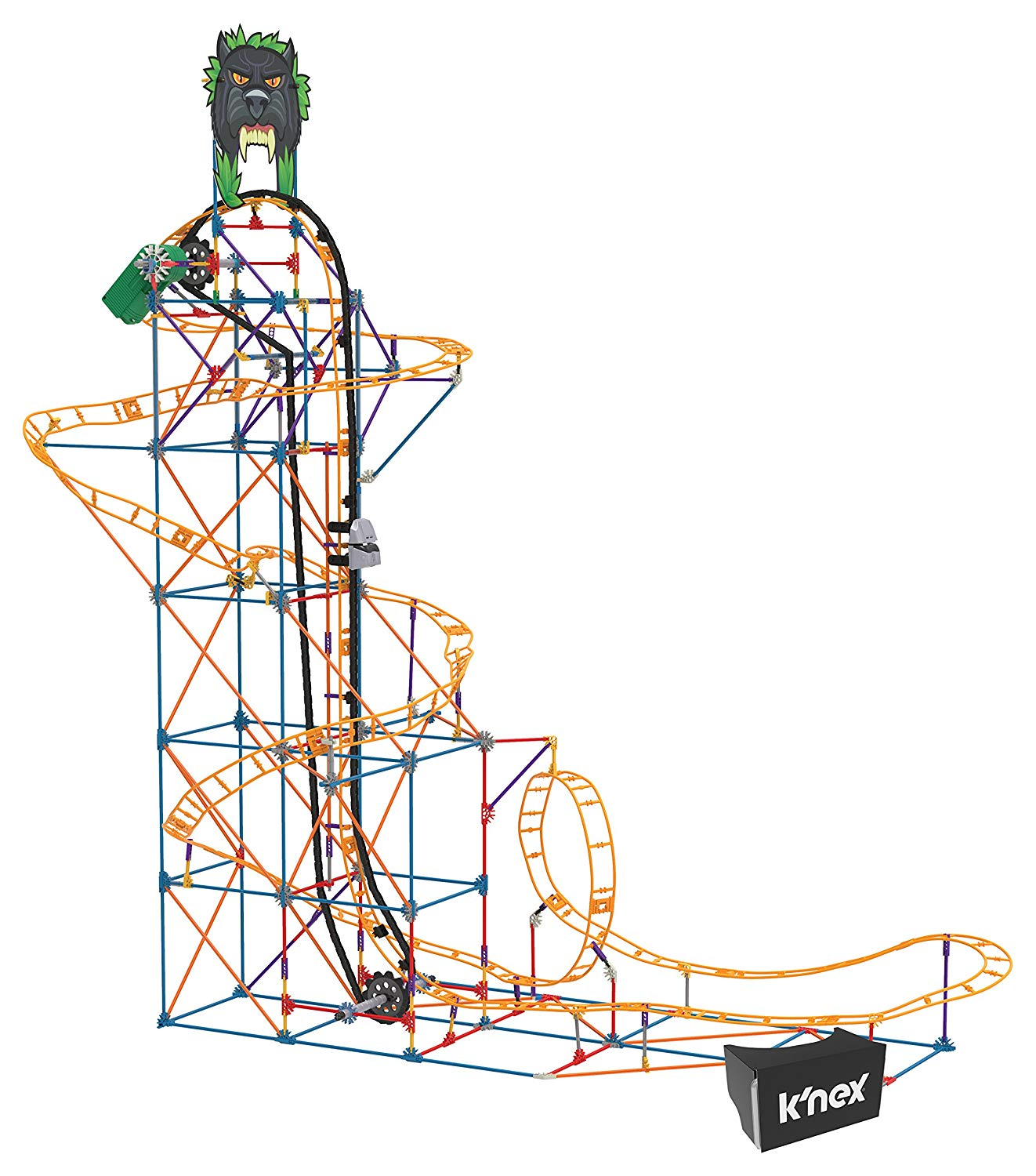 Roller coaster clipart click stars to rate clipart royalty free K\'NEX Thrill Rides – Panther Attack Roller Coaster Building Set with Ride  It! App – 689 Piece – Ages 9+ Building Set clipart royalty free