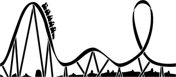 Rollercoaster clipart free download Black, Text, Font, Line, Tree, Design, Silhouette, Graphics ... free download