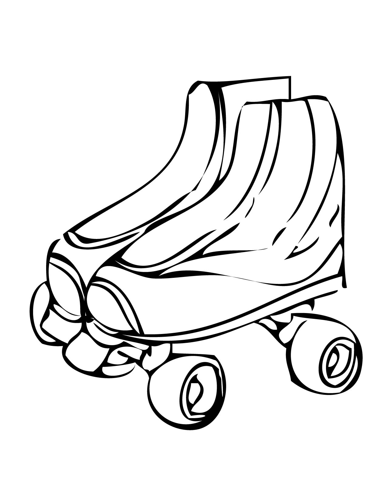 Roller skates clipart black and white graphic black and white Free Rollerskate Cliparts, Download Free Clip Art, Free Clip ... graphic black and white
