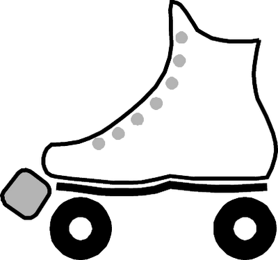 Roller skates clipart black and white picture royalty free stock Free Rollerskating Cliparts, Download Free Clip Art, Free ... picture royalty free stock