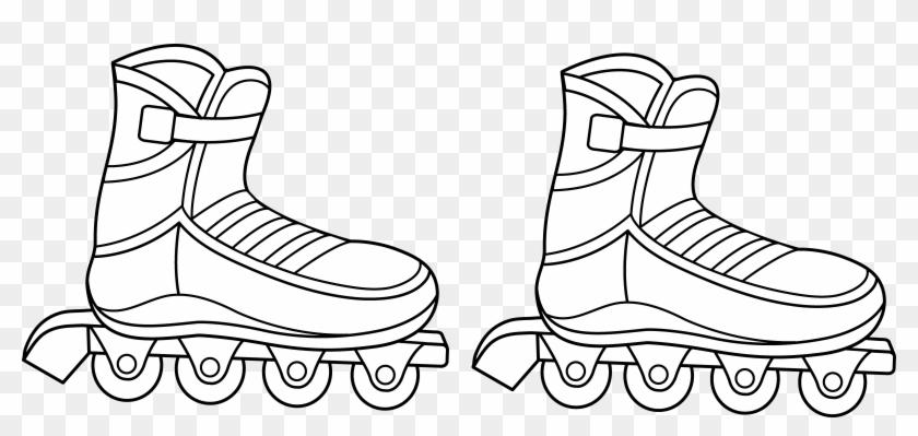 Roller skates clipart black and white vector royalty free Jpg Black And White Library Roller Skates Clipart Draw ... vector royalty free