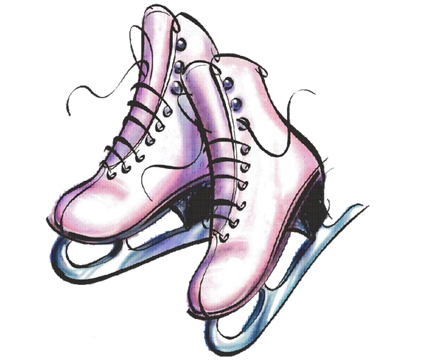 Roller skating pumpkin clipart clipart freeuse stock ice skates cartoon - Google Search | Skating | Pinterest clipart freeuse stock