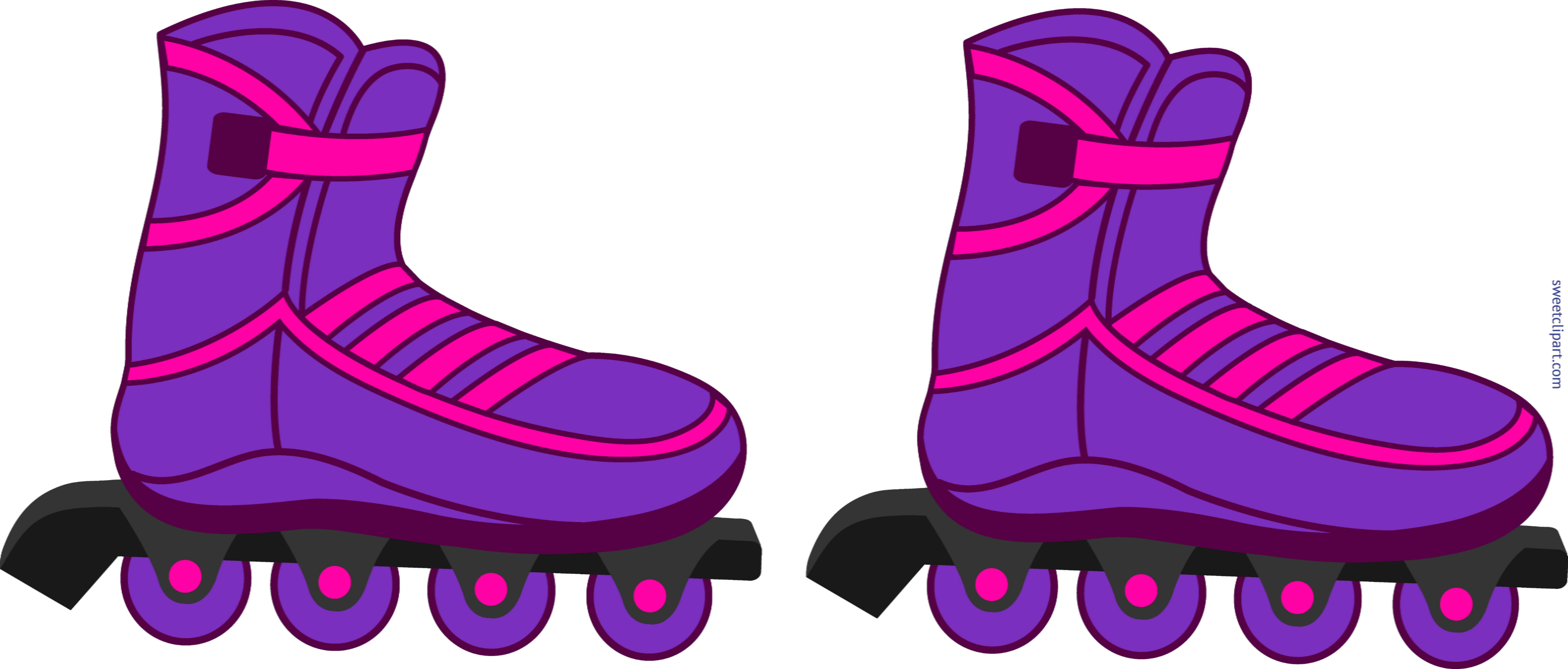 Rollerblade clipart clipart library stock Rollerblades Purple Clip Art - Sweet Clip Art   aj in 2019 ... clipart library stock