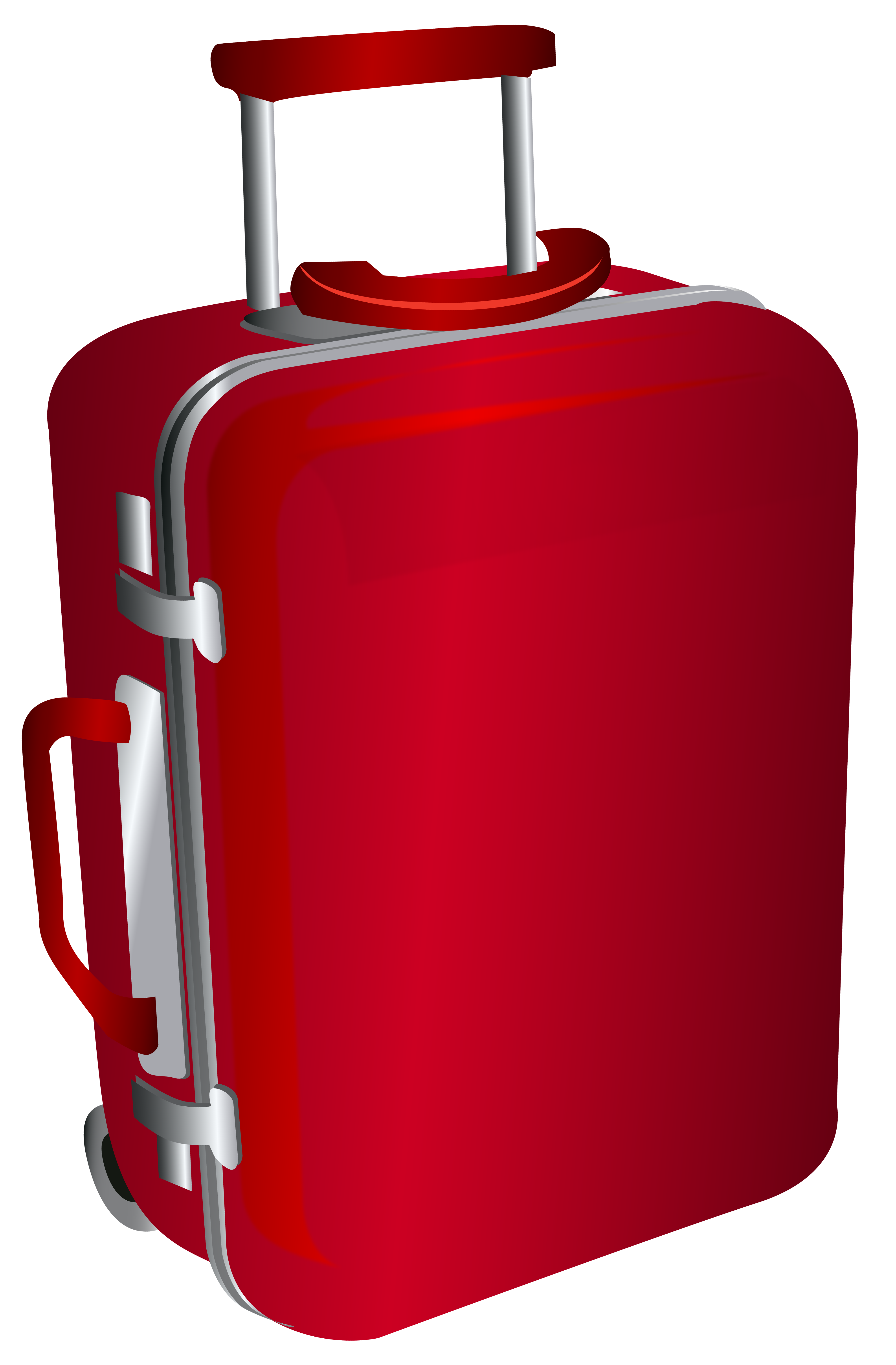 Rollercase clipart vector library download Red Trolley Travel Bag PNG Clipart Image | Gallery ... vector library download