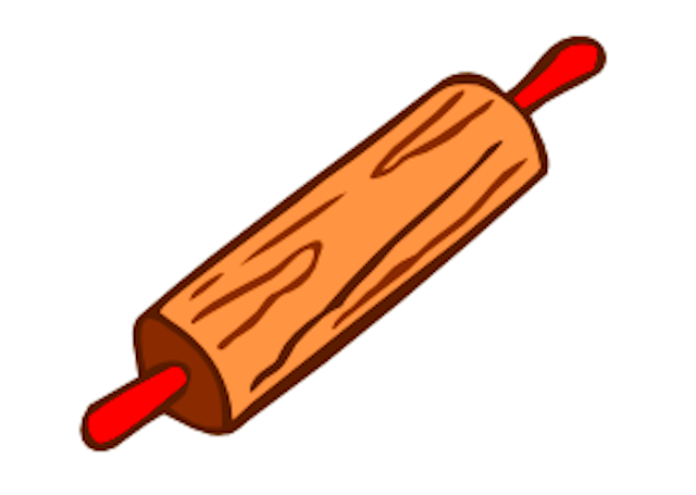 Rolling pin cute clipart