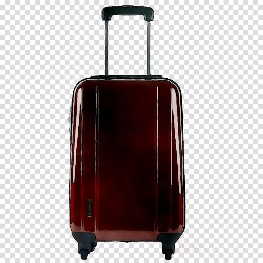 Rolling suitcase clipart image black and white Suitcase Cartoon clipart - Suitcase, Red, Bag, transparent ... image black and white