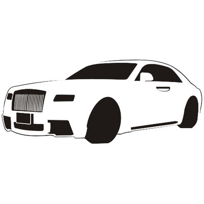 Rolls royce clipart image free Free Black & White Traced Rolls-Royce Clipart and Vector ... image free
