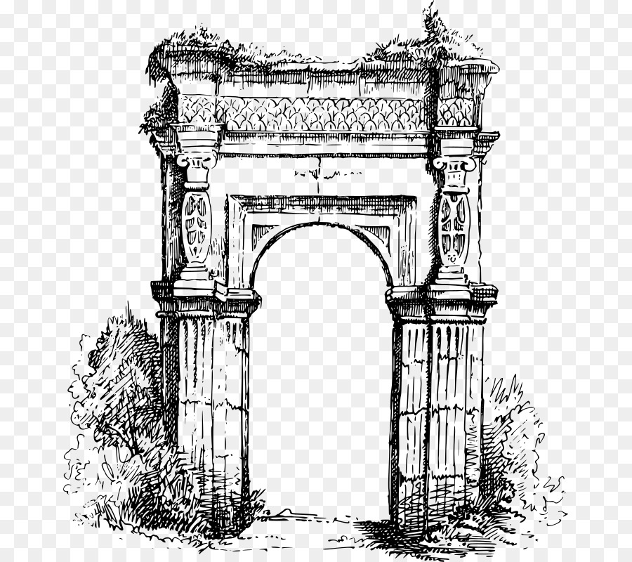 Roman arch clipart black and white free vector free library Arch Arch png download - 719*800 - Free Transparent Arch png ... vector free library