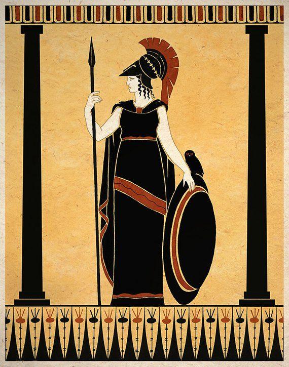 Roman boxing paul s time corinthians 9 clipart jpg black and white stock Ancient Goddess Athena Minerva Greek Roman Art Print Wall ... jpg black and white stock