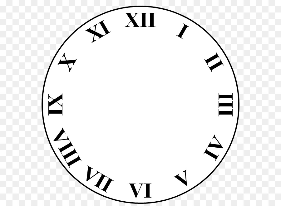 Roman numeral clock clipart vector transparent library Roman Numeral Clock Drawing   Free download best Roman ... vector transparent library