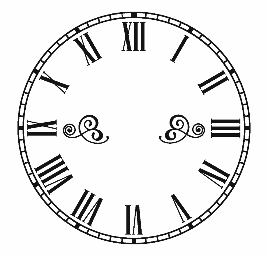 Library Of Roman Numeral Clock Picture Stock Png Files