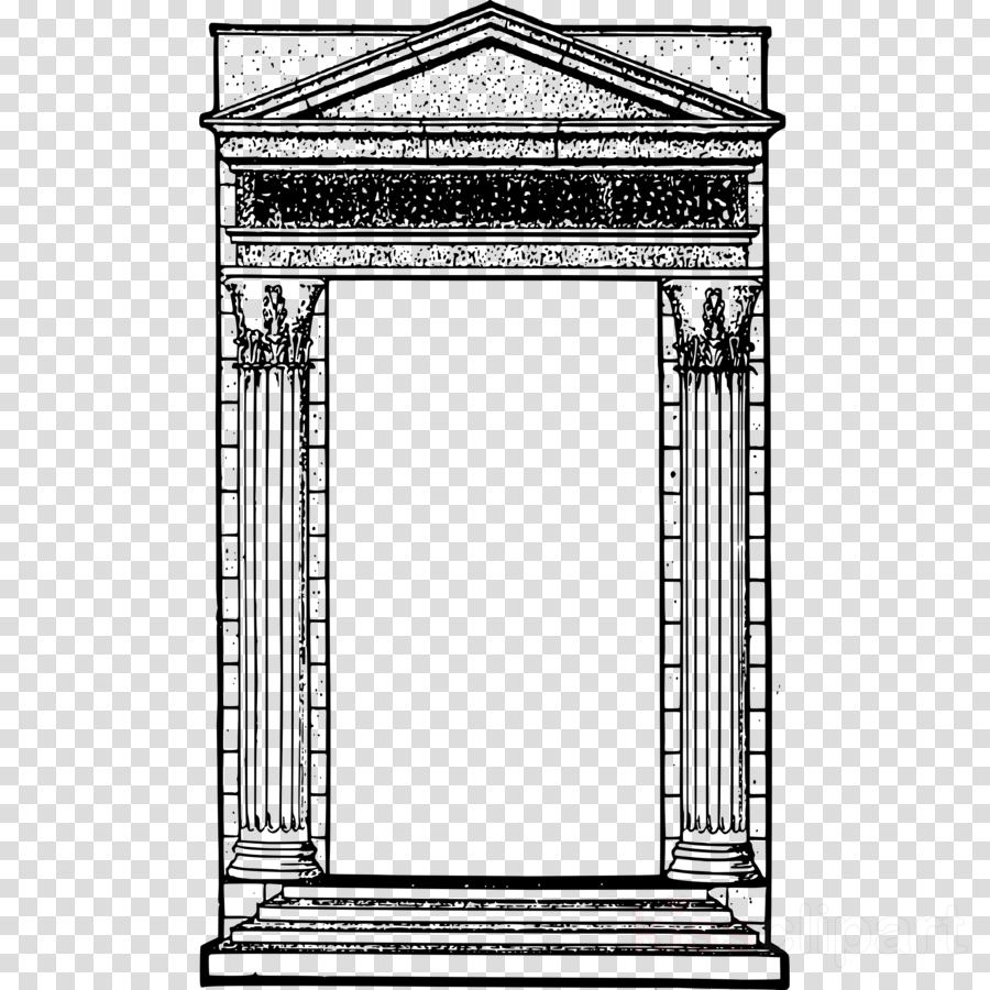 Roman temple frame clipart svg black and white stock Download roman frame clipart Ancient Rome Roman temple ... svg black and white stock
