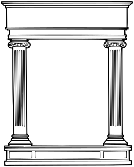 Roman temple frame clipart banner library library Roman columns   Italy in 2019   Roman columns, Columns decor ... banner library library
