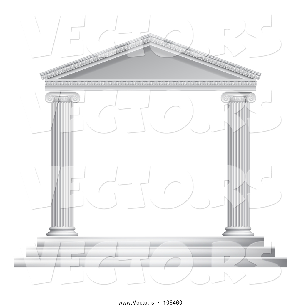 Roman temple frame clipart png black and white Vector of 3d White Ancient Roman or Greek Temple with ... png black and white
