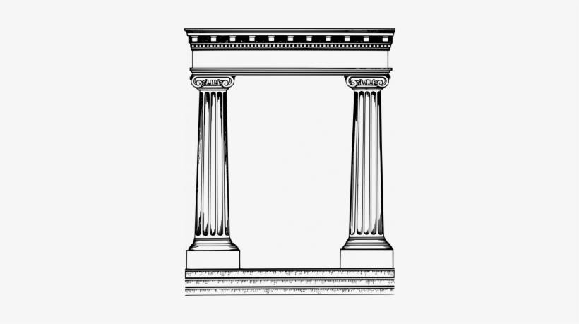 Roman temple frame clipart graphic royalty free Roman Pillars Frame Vector Image - Roman Temple Silhouette ... graphic royalty free