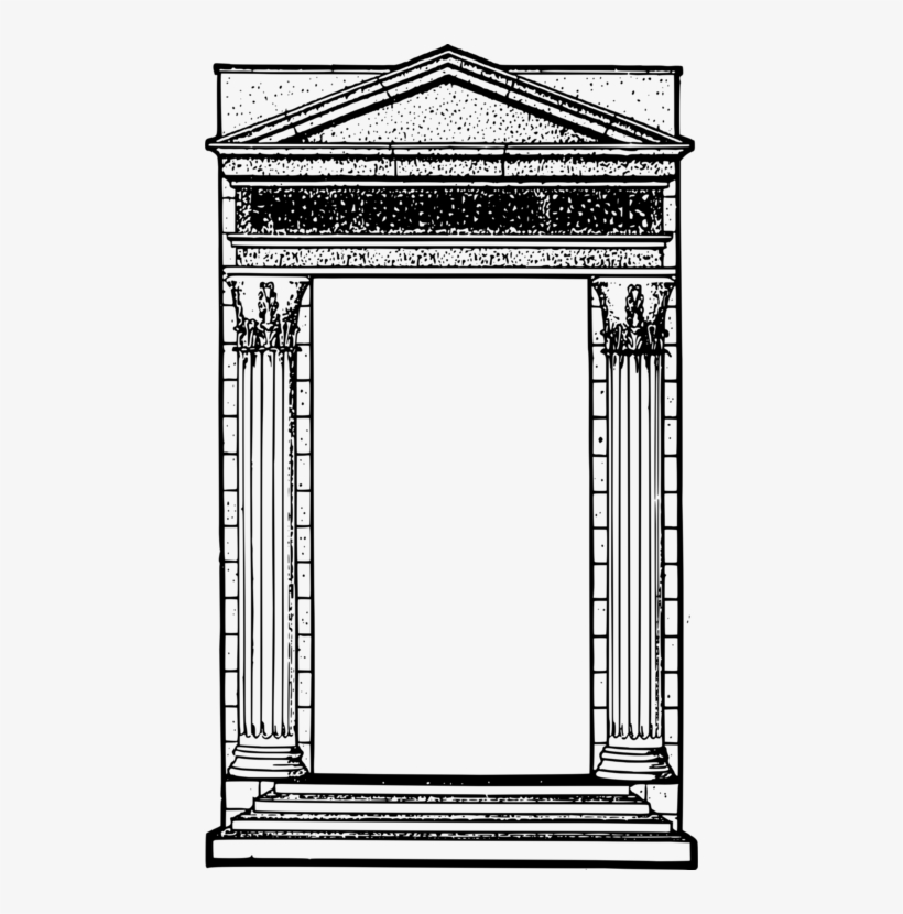 Roman temple frame clipart graphic black and white Roman Temple Ancient Rome Ancient Roman Architecture - Greek ... graphic black and white