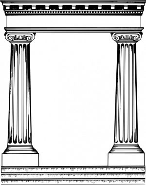 Roman temple frame clipart picture black and white Pinterest picture black and white