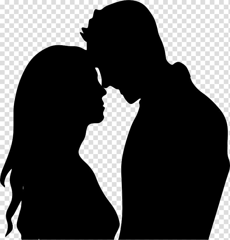 Romance clipart free clip art transparent download Free download | The Kiss Silhouette couple Drawing , love ... clip art transparent download