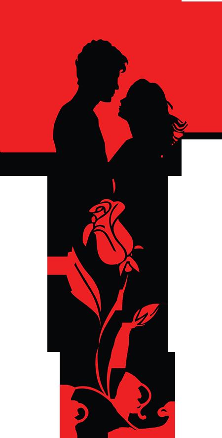 Romane clipart picture transparent ROMANTIC COUPLE SILHOUETTE   CLIP ART - VALENTINE\'S DAY ... picture transparent
