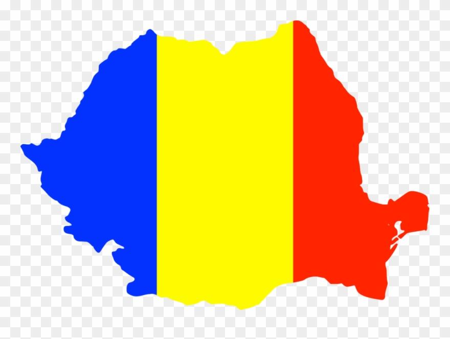 Romani clipart clip black and white Romania And Its People - Romania Flag Map Png Clipart ... clip black and white