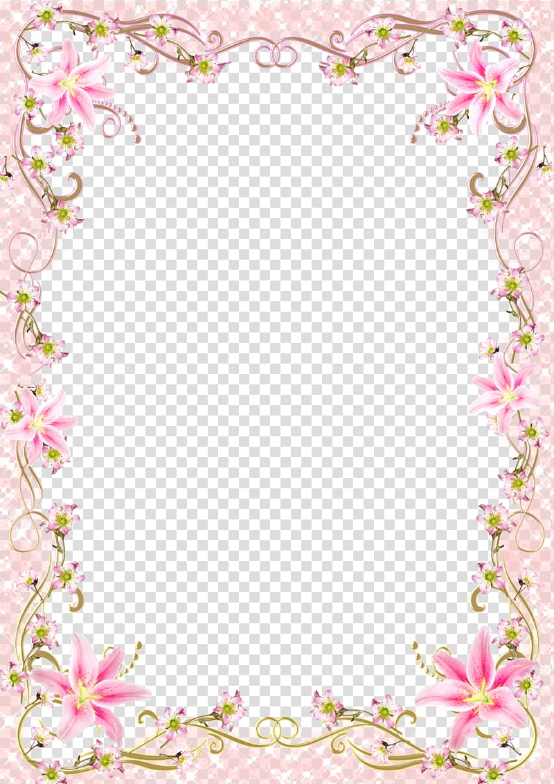 Romantic clipart borders clipart royalty free Frame Template, Floral Border Frame romantic pink line, pink ... clipart royalty free