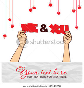 Romantic clipart text jpg library stock Romantic Vector Illustration with Me & You Text Clipart Image jpg library stock