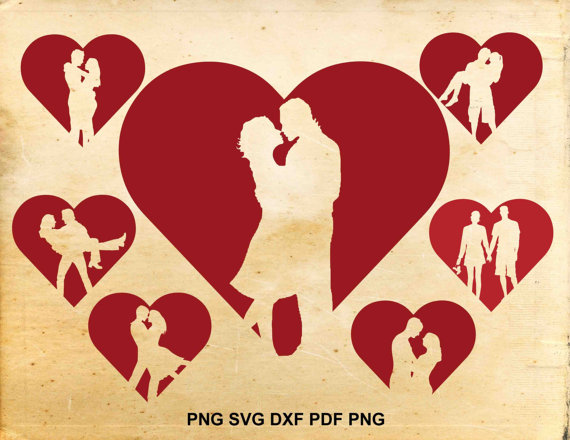Romantic clipart text clip art free stock Couple svg, Couple silhouette, Heart svg, Valentine svg ... clip art free stock