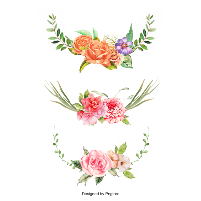 Romantic Flower Border, Flower, Border, Corner PNG and PSD File for ... image black and white library