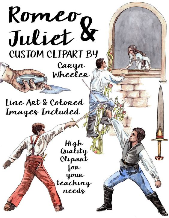 Romeo and juliet clip art clip art royalty free download William Shakespeare's, Romeo and Juliet Clip Art Package clip art royalty free download