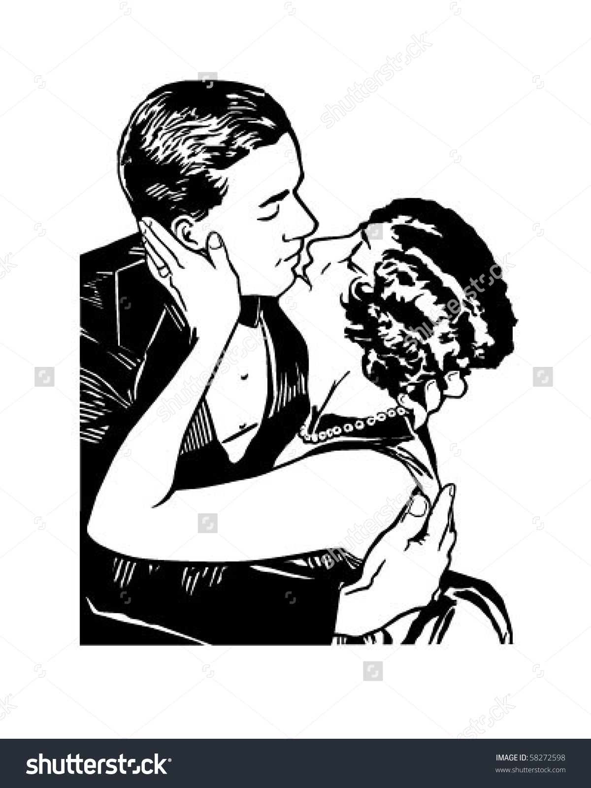 Romeo and juliet clip art graphic stock Romeo Juliet Retro Clip Art Stock Vector 58272598 - Shutterstock graphic stock
