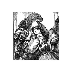 Romeo and juliet clipart picture black and white Romeo and Juliet Clipart - Polyvore picture black and white