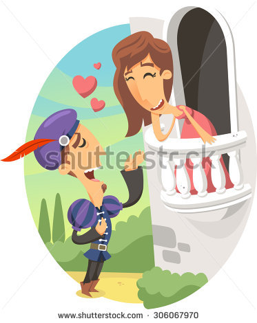 Romeo and juliet clipart vector black and white library Romeo And Juliet Stock Images, Royalty-Free Images & Vectors ... vector black and white library