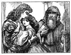 Romeo und julia clipart freeuse stock Romeo and Juliet', Act II, Scene 4, Romeo and Juliet with Friar ... freeuse stock