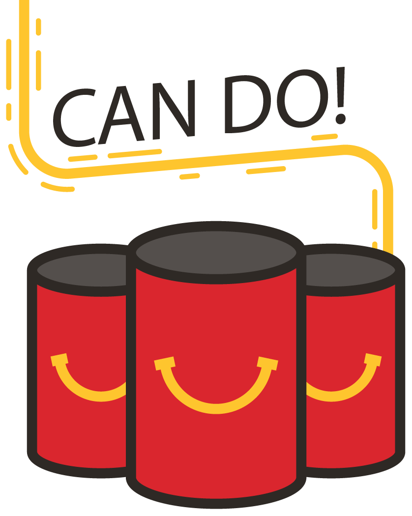 Ronald mcdonald house clipart vector royalty free library Canned Food Drive - Golden State Restaurant Group vector royalty free library