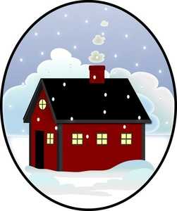 Roof snow clipart png freeuse download A chilly winter day with snow falling on the roof of a house ... png freeuse download