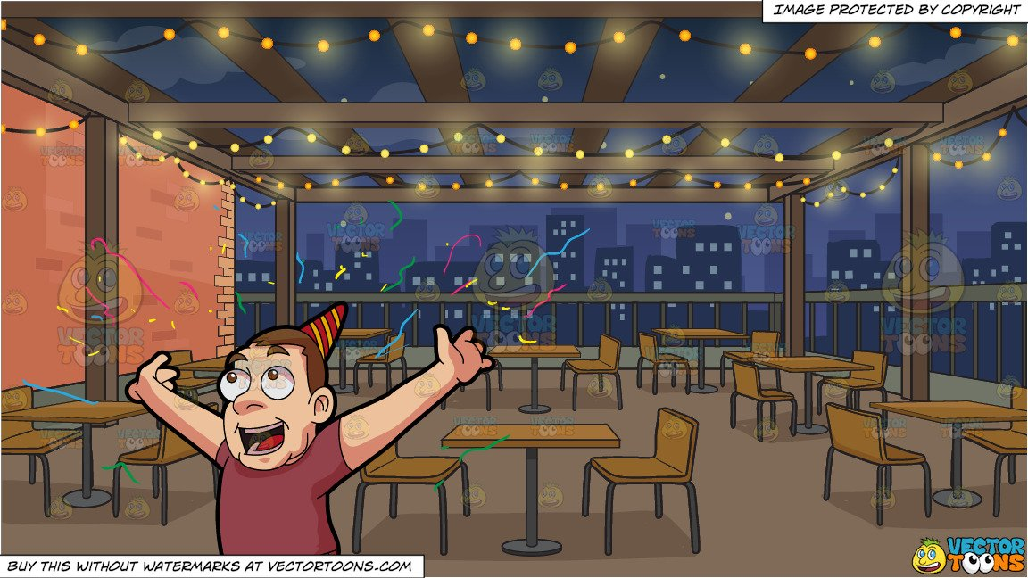 Rooftop event packages clipart download A Man Throwing Confetti During A Party and Manhattan Rooftop Restaurant  Background download