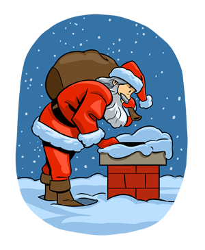 Rooftop with santa and sleigh clipart free jpg Free Christmas Clipart - New for 2012 jpg